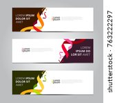 vector abstract design banner... | Shutterstock .eps vector #763222297