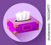 vector tissue box flat icon.... | Shutterstock .eps vector #763226977