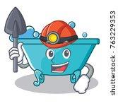 miner bathtub character cartoon ... | Shutterstock .eps vector #763229353