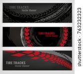 vector automotive banners... | Shutterstock .eps vector #763232323