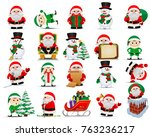 merry christmas. collection of... | Shutterstock .eps vector #763236217