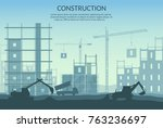 big set of construction... | Shutterstock .eps vector #763236697