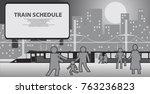 illustration of a railway... | Shutterstock .eps vector #763236823