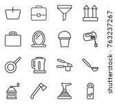 thin line icon set   basket ... | Shutterstock .eps vector #763237267