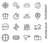 thin line icon set   target ... | Shutterstock .eps vector #763240447