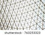 steel structure geometry... | Shutterstock . vector #763253323