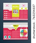 modern vector abstract brochure ... | Shutterstock .eps vector #763254337