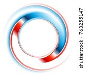 blue and red round circle logo... | Shutterstock .eps vector #763255147