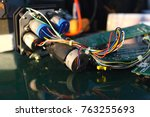 the servos are components of... | Shutterstock . vector #763255693