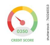 credit score gauges. minimum... | Shutterstock .eps vector #763260313