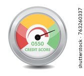 credit score gauges. minimum... | Shutterstock .eps vector #763260337