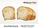 multi grain toast design...   Shutterstock .eps vector #763272127
