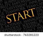 start word cloud  business... | Shutterstock . vector #763281223