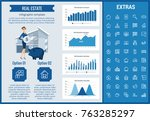 real estate infographic... | Shutterstock .eps vector #763285297