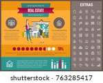 real estate infographic... | Shutterstock .eps vector #763285417