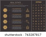real estate infographic... | Shutterstock .eps vector #763287817