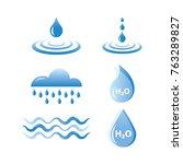 part of water drop | Shutterstock .eps vector #763289827