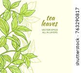 illustration with green tea... | Shutterstock .eps vector #763290817