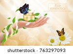 advertising poster with perfect ... | Shutterstock .eps vector #763297093