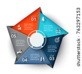 vector pentagon element for... | Shutterstock .eps vector #763297153