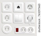 realistic electric outlet icon... | Shutterstock .eps vector #763297663