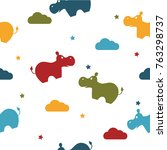 seamless colorful pattern.... | Shutterstock .eps vector #763298737