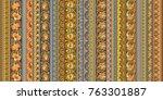 abstract ethnic stripe pattern  ... | Shutterstock .eps vector #763301887