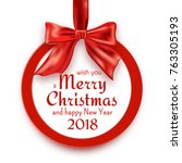merry christmas and happy new...   Shutterstock .eps vector #763305193