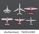 airplanes and military aircraft ... | Shutterstock .eps vector #763314283