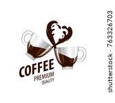 vector logo for coffee | Shutterstock .eps vector #763326703