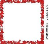 christmas symbols border | Shutterstock .eps vector #763331173