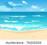 illustration beautiful summer... | Shutterstock .eps vector #76333324