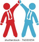 business people celebration of... | Shutterstock . vector #76333354