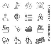thin line icon set   group ... | Shutterstock .eps vector #763338973
