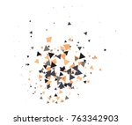 colorful shatter vector... | Shutterstock .eps vector #763342903