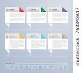 infographics design and... | Shutterstock .eps vector #763343617