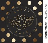 happy new year card   Shutterstock .eps vector #763343773
