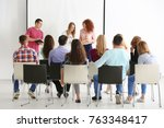 group of people with business... | Shutterstock . vector #763348417