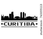 curitiba mexico skyline... | Shutterstock .eps vector #763355113