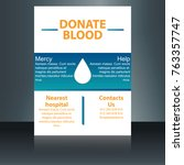 creative donate blood... | Shutterstock .eps vector #763357747