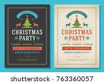 christmas party invitation... | Shutterstock .eps vector #763360057
