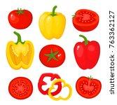 bright vector illustration of... | Shutterstock .eps vector #763362127