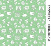 money seamless pattern  line... | Shutterstock .eps vector #763362223