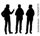 vector silhouettes of men...   Shutterstock .eps vector #763363573