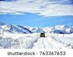 border kygyzstan and tajikistan ...   Shutterstock . vector #763367653
