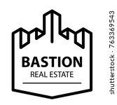 castle tower bastion symbol... | Shutterstock .eps vector #763369543