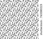 cheetah seamless vector pattern.... | Shutterstock .eps vector #763380223
