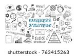 business strategy. vector hand...   Shutterstock .eps vector #763415263