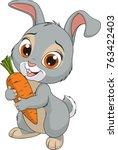 vector illustration  little... | Shutterstock .eps vector #763422403