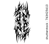 tattoo tribal designs. sketched ... | Shutterstock .eps vector #763425613